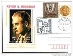 Peter Medawar - Nobel Prize In Medicine 1910. Turda 2010.