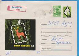 DEER FAUNA MAMMALS ROMANIA STATIONERY