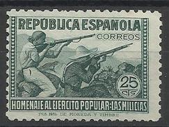 Espagne N° 646 Neuf Avec Charnière De 1938