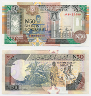 1990-91 // SOMALIE // 50 SHILIN SOOMAALI // ISSUE LIMITED // UNC - Somalia