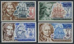 WALLIS- UND FUTUNA-INSELN 242-45 **, 1973, Entdecker Und Schiffe, Prachtsatz, Mi. 70.-