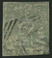 TRINIDAD UND TOBAGO 6c O, 1860, 1 P. Grau, Helle Stelle, Feinst, Signiert Dr. Pirl, Mi. 750.-
