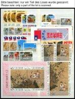 TAIWAN **, Postfrische Sammlung Taiwan Von 1976-90, Ab 1979 Recht Komplett, Dabei Blocks, Zusammendrucke, Kleinbogen, Ma