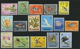 SINGAPUR 53-68 **, 1962, Fauna Und Flora, Prachtsatz