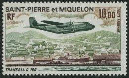 ST. PIERRE UND MIQUELON 494 **, 1973, 10 Fr. Transall C 160, Pracht, Mi. 60.-