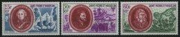 ST. PIERRE UND MIQUELON 461-63 **, 1970, Historische Persönlichkeiten, Prachtsatz, Mi. 110.-