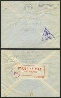 ISRAEL 1967, Dreieckiger Feldpoststempel 2648 Und Handschriftlicher Vermerk Aktiver Dienst Sowie Poststempel Von Haifa A