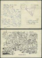 ISRAEL 1967, Dreieckiger Feldpoststempel 2269 Und Poststempel Von Ashoelon Auf Feldpost-Vordruckkarte Von Der ägypt