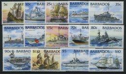 BARBADOS 856-69 **, 1994, Schiffe, Prachtsatz (14 Werte)