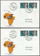 LUFTPOST SF 77.1.a-d BRIEF, 13.2.1977, Mittelholzer Afrika-Gedenkflug ZÜRICH-KAIRO,-NAIROBI,-KAPSTADT Und -GAO, 4 P