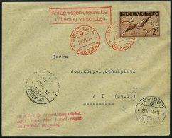 LUFTPOST SF 34.3 BRIEF, 28.6.1934, Swissair Balkanflug Nach Istanbul, Frankiert Mit Mi.Nr. 245z, Prachtbrief
