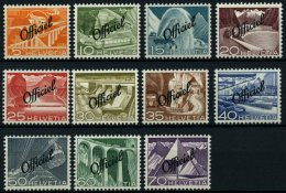 DIENSTMARKEN D 64-74 **, 1950, Officiel, Prachtsatz, Mi. 85.-