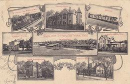 Gruss Von Wahn Mit Bahnhof, Schiessplatz & Elektrizitäts-Gebäude - 1908   (PA-17-140828-x) - Germany