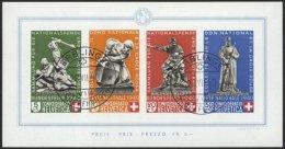 SCHWEIZ BUNDESPOST Bl. 5 O, 1940, Block Pro Patria, Pracht, Mi. 700.-