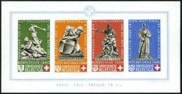 SCHWEIZ BUNDESPOST Bl. 5 **, 1940, Block Pro Patria, Pracht, Mi. 450.-