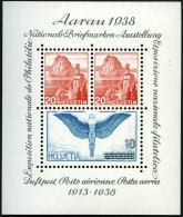 SCHWEIZ BUNDESPOST Bl. 4 **, 1934, Block Aarau, Pracht, Mi. 75.-