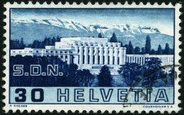 SCHWEIZ BUNDESPOST 322I O, 1938, 30 C. ILO Mit Abart 4. Säule Gebrochen, Pracht, Mi. 300.-