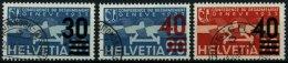 SCHWEIZ BUNDESPOST 291-93,310 O, 1936/7, Flugpostmarken, 4 Pachtwerte, Mi. 67.-