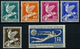 SCHWEIZ BUNDESPOST 250-55 **, 1932, Abrüstungskonferenz, Satz Feinst/Pracht, Mi. 100.-