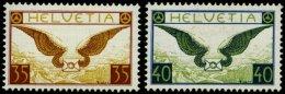 SCHWEIZ BUNDESPOST 233/4z *,** , 1933, Geflügelter Brief, Gestrichenes Papier, 40 C. Winziger Falzrest, Pracht