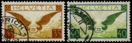 SCHWEIZ BUNDESPOST 233/4x O, 1933, Geflügelter Brief, Gewöhnliches Papier, Pracht, Mi. 160.-