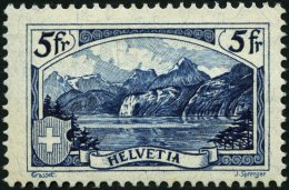 SCHWEIZ BUNDESPOST 227 **, 1928, 5 Fr. Gebirgslandschaften, Pracht, Mi. 400.-