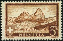 SCHWEIZ BUNDESPOST 226 *, 1931, 3 Fr. Gebirgslandschaften, Kleine Falzreste, Pracht