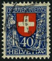 SCHWEIZ BUNDESPOST 188 O, 1923, 40 C. Pro Juventute, Pracht, Mi. 65.-
