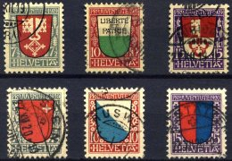 SCHWEIZ BUNDESPOST 149-51,153-55 O, 1919/20, Pro Juventute, 2 Prachtsätze, Mi. 90.-