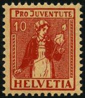 SCHWEIZ BUNDESPOST 135 **, 1917, 10 C. Pro Juventute, Postfrisch, Pracht, Mi. 60.-