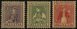 SCHWEIZ BUNDESPOST 133-35 **, 1917, Pro Juventute, Prachtsatz, Mi. 100.-
