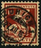 SCHWEIZ BUNDESPOST 132 O, 1916, 10 C. Pro Juventute, Pracht, Mi. 90.-