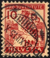 SCHWEIZ BUNDESPOST 129 O, 1915, 10 C. Pro Juventute, Pracht, Mi. 110.-