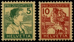 SCHWEIZ BUNDESPOST 128/9 **, 1915, Pro Juventute, Postfrisch, Pracht, Mi. 260.-