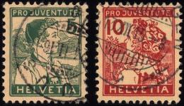 SCHWEIZ BUNDESPOST 128/9 O, 1915, Pro Juventute, Pracht, Mi. 120.-