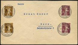 SCHWEIZ BUNDESPOST 124,136 BRIEF, 12.1.1923, 1 C. Auf 2 C. Und 21/2 C. Tellknabe Auf Inlandsbrief Mit Sonderstempel Der