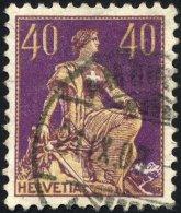 SCHWEIZ BUNDESPOST 101 O, 1908, 40 C. Dunkelpurpur/chromgelb, Pracht, Mi. 110.-