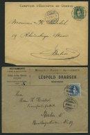 SCHWEIZ BUNDESPOST 59,67,73 BRIEF, 1895,1900, 25 C. Grün, 25 C. Blau Und 25 C. UPU, Je Als Einzelfrankatur Auf Brie