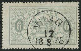 DIENSTMARKEN D 4Ac O, 1874, 6 Ö. Grau, Gezähnt 14, Zentrischer K1 WING, Punkthelle Stelle Sonst Pracht, Mi. 19