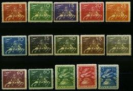 SCHWEDEN 159-73 *, 1924, UPU, Falzrest, Prachtsatz, Facit 5500.- Skr.