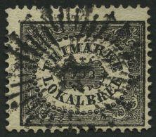 SCHWEDEN 6 O, 1856, 1 Skill. Bco. Schwarz (Facit 6a2), Pracht, Facit 4000.- Skr.