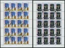 SAN MARINO 1465/6 KB O, 1991, Europäische Weltraumfahrt In Kleinbogen, Pracht, Mi. 160.-