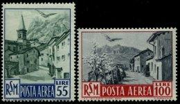 SAN MARINO 447/8 **, 1950, 55 Und 100 L. Flugpost, 2 Prachtwerte, Mi. 76.-