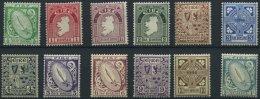 IRLAND 40-51A *, 1922, Nationale Symbole, Wz. 1, Gezähnt A, Falzrest, Prachtsatz