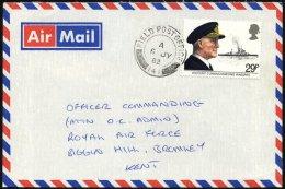 BRITISCHE MILITÄRPOST 922 BRIEF, 1982, K2 FIELD POST OFFICE/141 Auf Feldpostbrief Von Den Falklandinseln Nach Gro&s