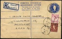 BRITISCHE MILITÄRPOST U.a. 321 BRIEF, 1961, 2 P. Hellbraun Mit K1 F.P.O./978 Und Zusatzfrankatur Auf Militärpo