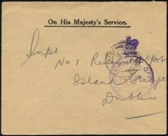 BRITISCHE MILITÄRPOST 1921, K2 FIELD POST OFFICE/W 16 Und Violetter Stempel COMMAND PAY OFFICE/DUBLIN Auf Milit&aum