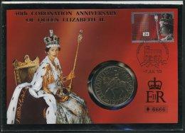 GROSSBRITANNIEN 1387 BRIEF, 1993, 24 P. 40. Jahrestag Der Thronbesteigung Auf Numisbrief, Pracht