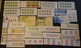 ZUSAMMENDRUCKE A. MH 3-23 **, 1968-88, 21 Verschiedene Markenheftchen Sowie 6 Verschiedene Folienblätter, Fast Nur