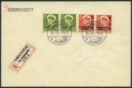 GRÖNLAND - DÄNISCHE POST 30,43 Paar BRIEF, 1959, 10 Und 30 + 10 Auf 25 Ø Auf Einschreibbrief (Anschrift